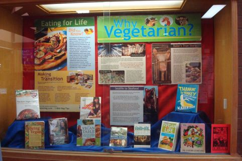 Our traveling educational display visits the Clovis Public Library.