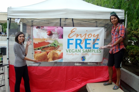 An Earth Day Feed-In at Fresno City College.